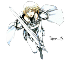 Claymore Claire render by Ripper1992