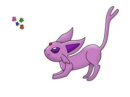 Espeon - Huntress by Lullaby-Scraps