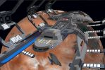 Star Trek Voyager: Intrepid prototype in drydock by calamitySi