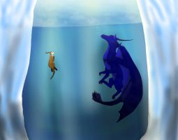 Under the Ice: for Pan's TWW Contest. by Dawnshade1