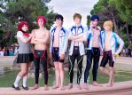 Free! Cosplay Group - Ike Ike Ike Ike Iwatobi! by DakunCosplay