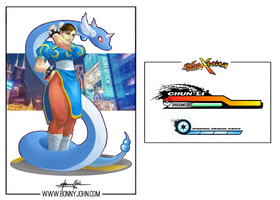 Chun Li x Dragonair - Street Fighter x Pokemon
