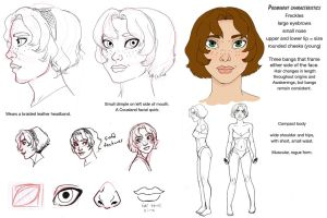 Elissa Cousland chara sheet by chronicdoodler