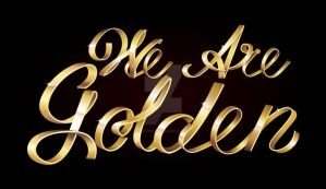 Tutorial: We Are Golden Text Effect by marywinkler