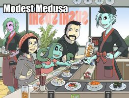 Modest Medusa sushi break by JakeRichmond