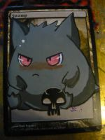 Magic the Gathering Altered Cute Gengar by OneWingedSoul