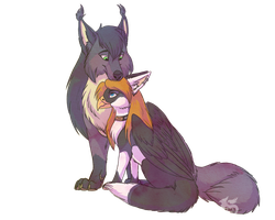 Thank you for being my shoulder by Husky-Foxgryph