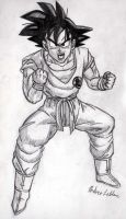 Goku - Sketch #3 by Jaylastar