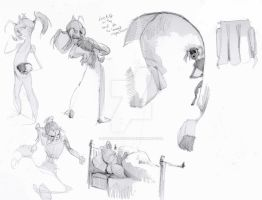 Fairy tale character rough studies by innerpeace1979