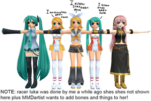 MMD Newcomers From Vocaloid by Anime-Base-Creator