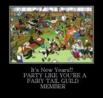The Fairy Tail Guild's new years party! by MinniBellSnow