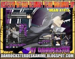 Hibari Kyoya Theme Windows XP by Danrockster