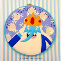 Ice King Embroidery Hoop by iggystarpup