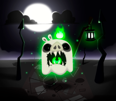 Ghost pig (From Angry Birds Epic) by Stormtrooper-pig