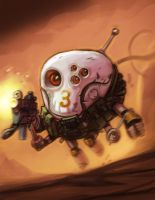 Mars Attack Skull Death Pod by Tatonkus