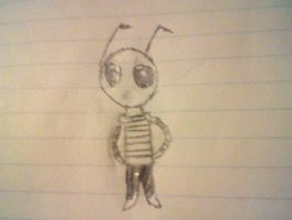 Second sketch of Invader Zim by jjj6