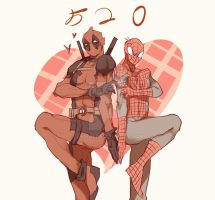 Spideypool129 by LKiKAi
