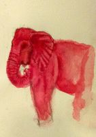 Elephant in Pink by jenniemarie22