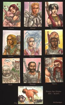 Dragon Age Trading Cards by DeannaEchanique