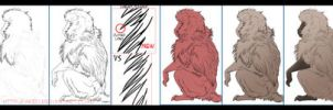 Baboon Drawing How-To by akeli