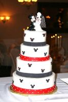 Disney Wedding Cake by SLeopardCub