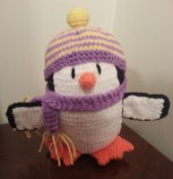 Penguin (purple, yellow) by shadow-bahar