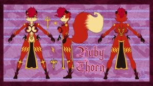 Ruby Thorn Reference Sheet by scificat