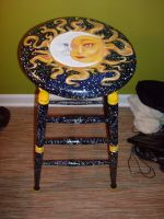 Sun and Moon stool by Aydengryphongirl