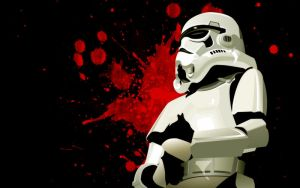 Storm Trooper blood by DagoDesign
