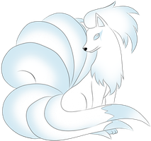 Adoptable Snow Nine-Tails  ::CLOSED:: by Crystal-Z-Adoptions