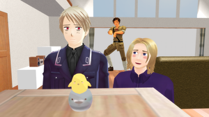 MMD Hetalia - Normal day for the BTT? by PikaBlaze