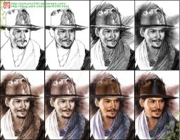 The process of Johnny Depp. by schumy330