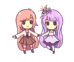 Commission: Blinking Chibis 3 by ArtsyAica