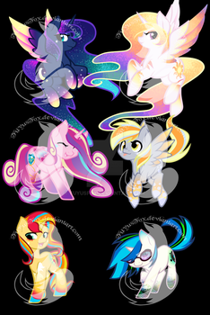 Chibi Rainbow Power Designs 2 by FuyusFox