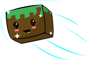 Happy Dirt Block by MineGirl007