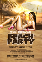 official beach party flyer by DeityDesignz