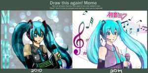 Old Miku vs New Miku by firemagicsinger