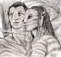 Avatar Jake and Neytiri by StrawberryCake01