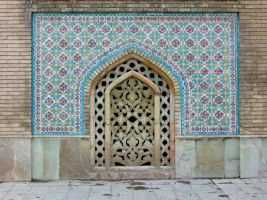 Persian Architecture 12 - Tiles and Vent by fuguestock