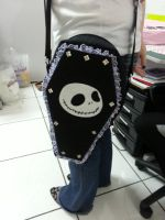 Handmade Disney Jack Skellington Coffin Side Bag by RbitencourtUSA