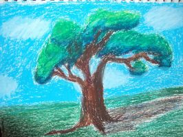 Tree in pastels by Corporalkills