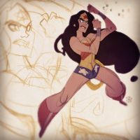 WonderWoman's double band arm salute by cheeks-74