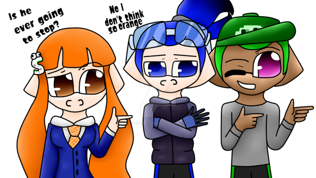 .: Redo :. Orange, Blue and Green by pikathelover