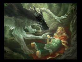 Red and the Wolf by faxtar