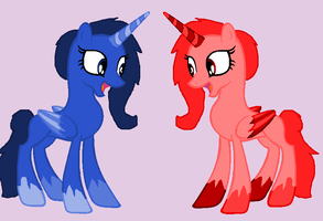 Mystery Adopt Sisters for ~Black-SpiderPony by rustics