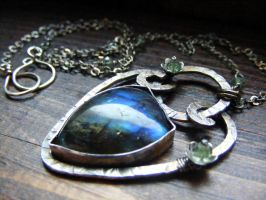 Labradorite Tourmaline Hidden by MoonLitCreations