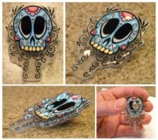 Day of the Dead Shrinky Dink by Vectorcrazy
