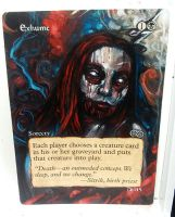 Magic the Gathering alter: Exhume 11/1614 by Ondal-the-Fool