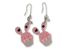 Sweet Bunny Cupcake Earrings by SweetandCo