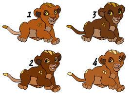 Cubs from B and E - CLOSED - by Soufroma